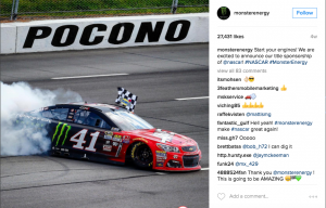 Monster hits the clutch and puts its NASCAR sponsorship in gear