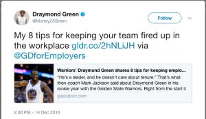 Draymond Green Increase Sales Using Social Media