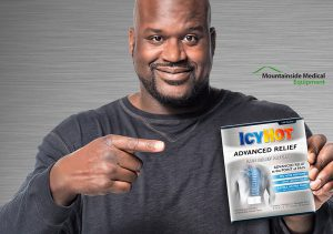 NBA hall of famer Shaquille O'Neal is a spokesman for Icy Hot.