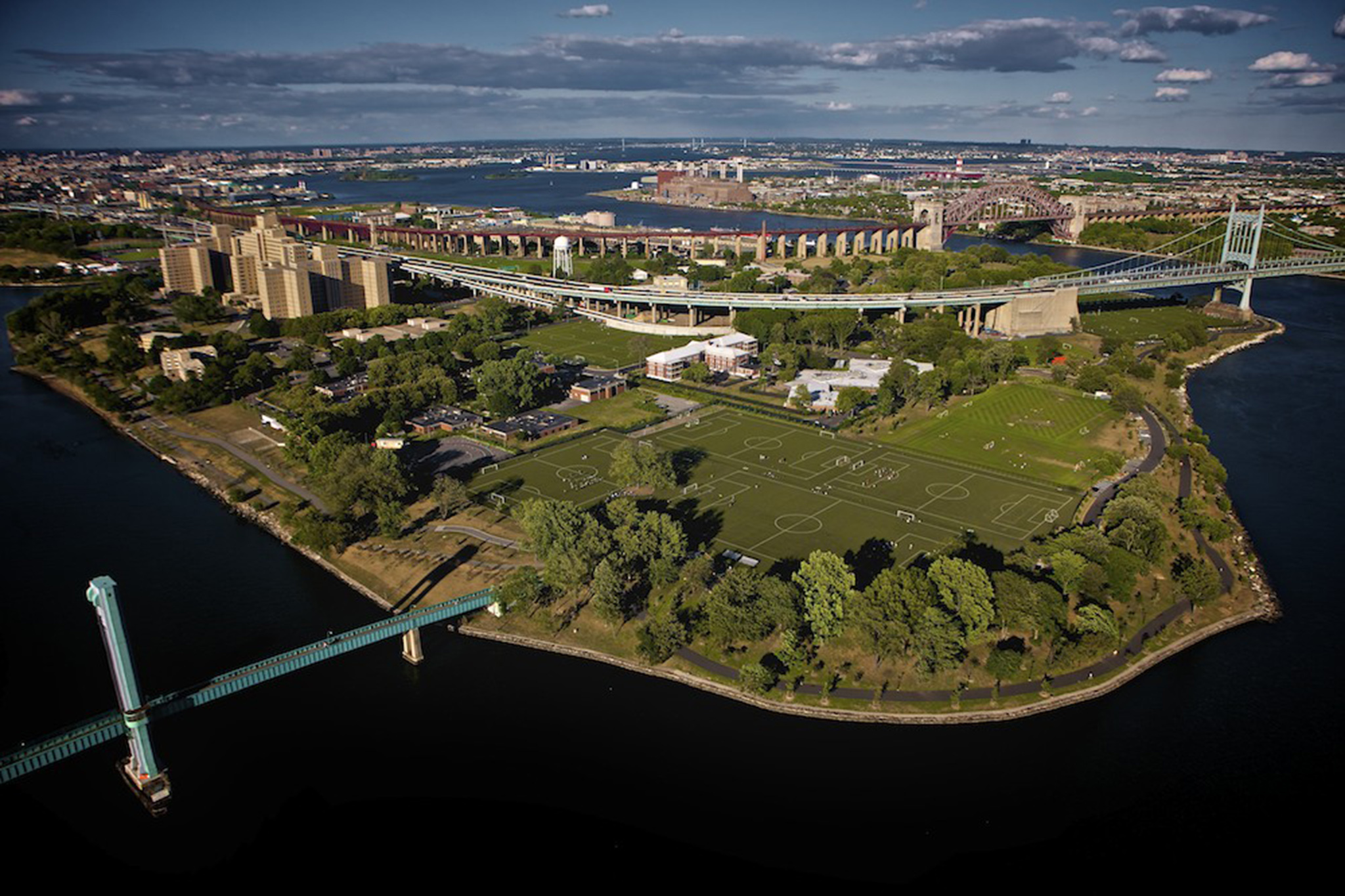 Randall's Island Park is a beautiful park and shows the globalization of sports.