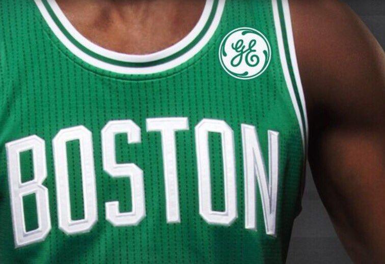 Boston Celtics jersey patch sponsor General Electric.