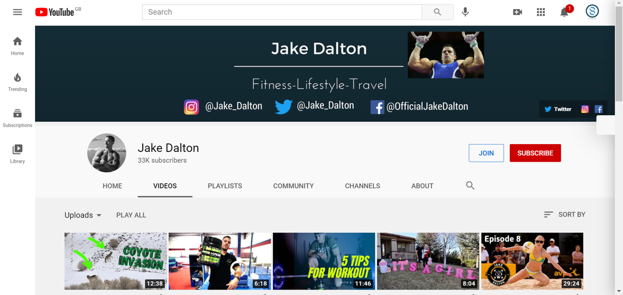 Jake Dalton youtube