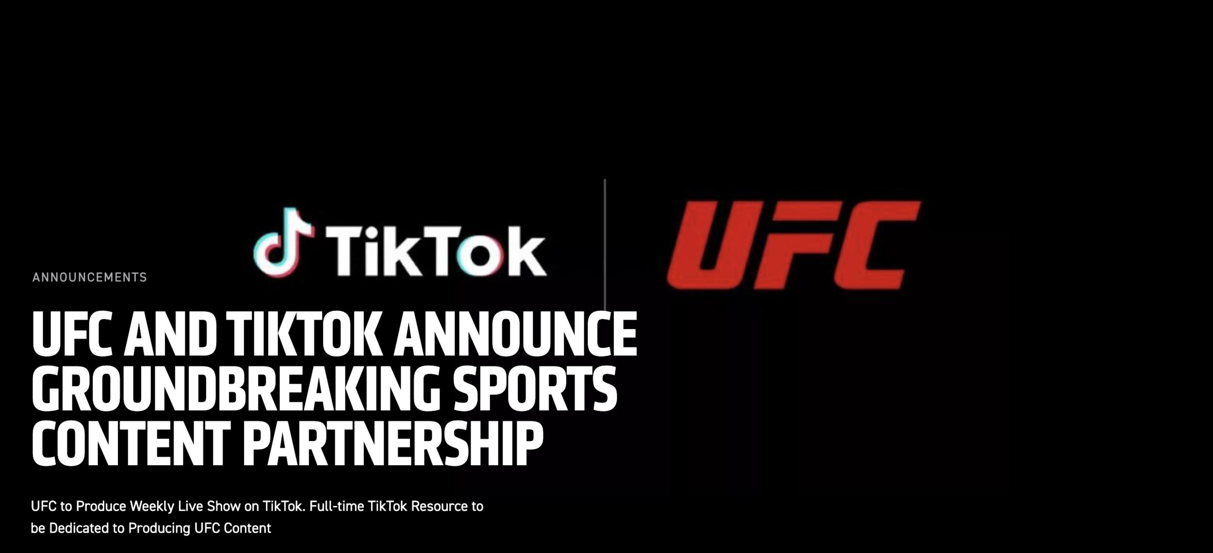 UFC+AND+TIKTOK+ANNOUNCE+GROUNDBREAKING+SPORTS+CONTENT+PARTNERSHIP-2