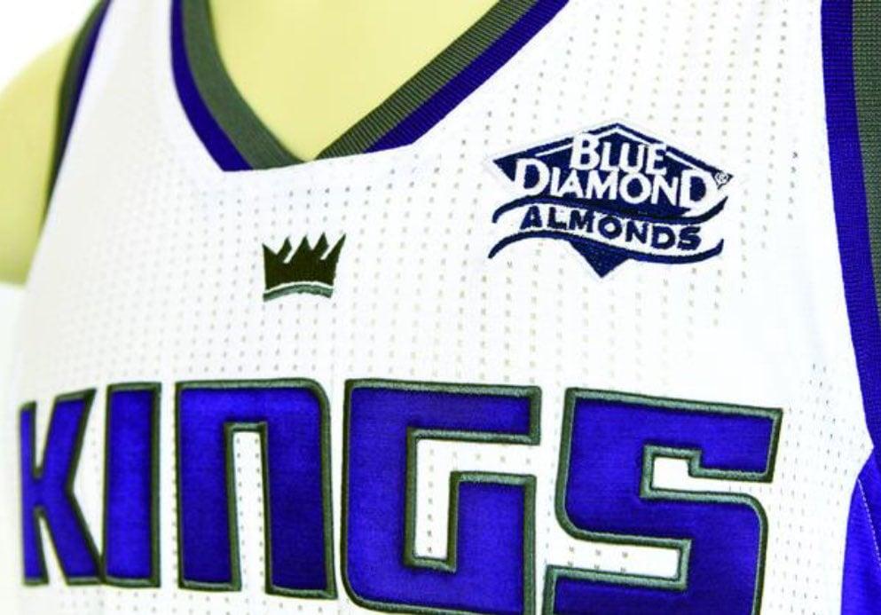 Sacramento Kings jersey patch sponsor Blue Diamond.